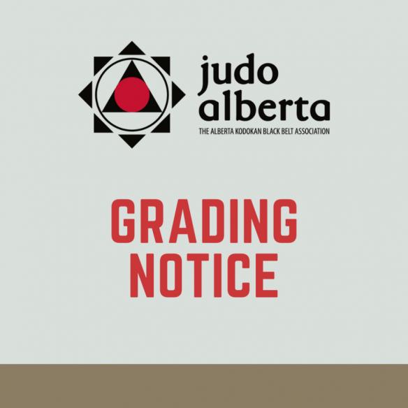 Judo Alberta Virtual Grading Notice